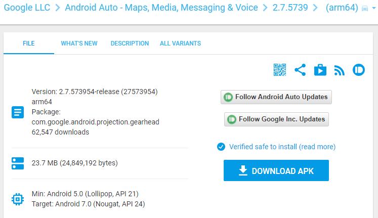 Pobierz apk Android Auto.png